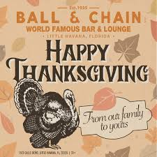 happy thanksgiving chain is closed for the