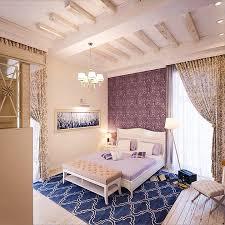 Bedroom Taupe Contemporary Master Bedroom With Interior Wallpaper U0026 Chandelier
