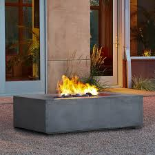Outdoor Natural Gas Fire Pit Real Flame Baltic 50 Inch Natural Gas Fire Pit Table Glacier