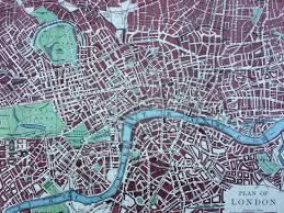 england home decor 1899 london original antique w u0026 a k johnston map city plan