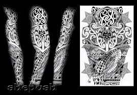tribal sleeve design by shepush on deviantart