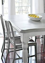 white and gray dining table 20 diy home decor ideas kitchens dining and dining room table