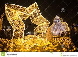 light decorate beautiful on christmas tree celebration 2017