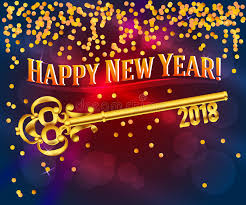 happy new year photo card happy new year 2018 card key stock photo image of elements