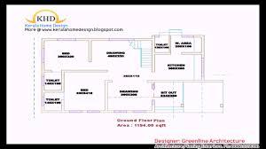 3 Bedroom House Plans Kerala Style Bedroom House Plans Single Floor Youtube Ground Plan
