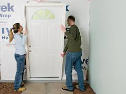 Exterior Door Insulation by How To Install A Prehung Entry Door How Tos Diy