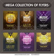 fliers templates set six glossy flyers templates invitation stock vector 624466523