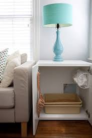 litter box side table ikea furniture converted to cat litter box t i d y pinterest