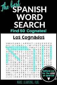 40 best spanish cognates los cognados images on pinterest