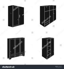 Bedroom Sets With Wardrobe Wardrobe Mirror Wardrobe Shelving Mezzanines Bedroom Stock Vector