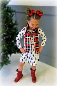 b u0026w christmas tree dress with plaid pom pom scarf set sparkle in