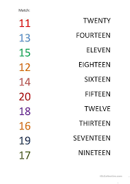 number names worksheets matching numbers 1 10 free