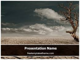 download free drought land powerpoint template for your