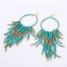 hoop beaded earrings statement earrings diavee