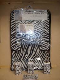 Cheetah Print Bathroom by Amazon Com 19pcs Bath Accessory Set Lovely White Zebra Print
