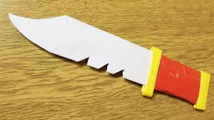 how to make kitchen knives how to make a paper knife youtube