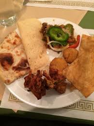 plate of food with pakora naan etc picture of sangam indian