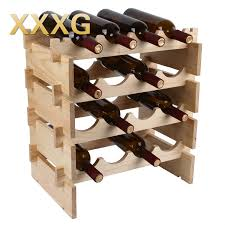 xxxg diy high quality classical folding wooden red wine holder