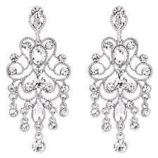 Black And Silver Chandelier Earrings Vintage Chandelier Earrings Amazon Com