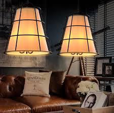 industrial halogen light fixtures loft style iron fabric droplight industrial vintage led pendant