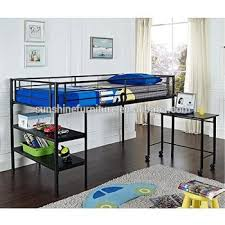 lit enfant mezzanine avec bureau noir argent enfants chambre meubles lits enfants bas lit