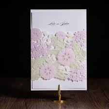 100pcs laser cut wedding invitations cards elegant flora flower