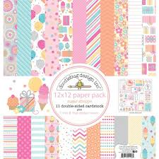 Scrapbook Paper Packs Doodlebug Design Sugar Shoppe 12 X 12 Paper Pack
