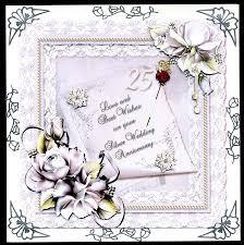silver wedding card photo by silver