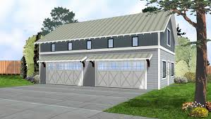 Garage Plans With Living Space by 052g 0007 Modern 4 Car Garage Plan Traditional Garage Plan 44914