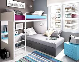 Rimobel Contemporary Childrens Bedroom With Bunk Bed And Bedside - Right angle bunk beds