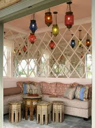 Outdoor Moroccan Furniture by Outdoor Vibrant Hanging Lanterns Interior Decorating