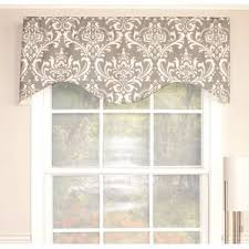 Drapery Valance Damask Valances U0026 Kitchen Curtains You U0027ll Love Wayfair