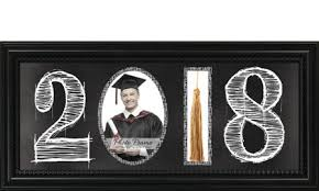 graduation frames with tassel holder class of 2017 cork graduation photo frame tassel holder 8in x 10in