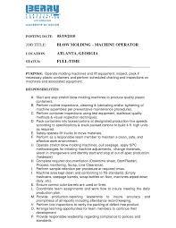 Machine Operator Job Description For Resume by Cover Letter Press Operator Job Description Assistant Press