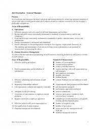 Restaurant Owner Job Description For Resume Hotel General Manager Job Description Surprising Hotel General