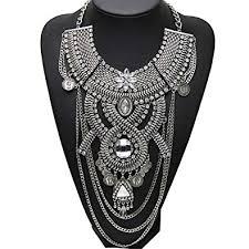 silver boho necklace images Santfe fashion vintage silver gold long boho statement jpg