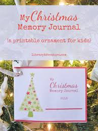 my memory journal a printable ornament for