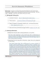 article summary worksheet free worksheets library download and