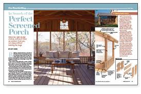 fine homebuilding login in search of the perfect screened porch fine homebuilding