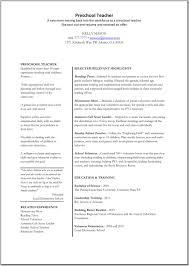 objective for resume for teacher resume resume preschool teacher picture of printable resume preschool teacher large size