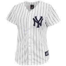 new york yankees women u0027s replica home mlb baseball jersey new