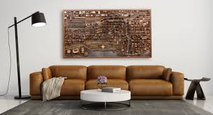 chicago cityscape wood wall art made of old reclaimed barn