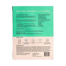 reset button soothe restore sheet mask peach u0026 lily