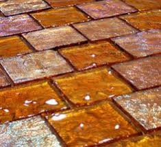 Brown Glass Tile Backsplash by Translucent Glass Wall Tile By Bottle Alley Glass Amber Cover