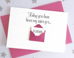 card for sister etsy