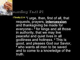 prayer intercession a teaching series