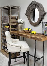 Diy Industrial Desk by Reclaimed Wood Desk Find This Pin And More On Front Desk