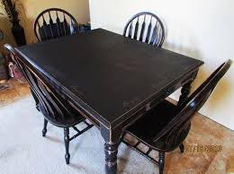 Serene Village Black Distressed Kitchen Table And Chairs Black - Black kitchen table
