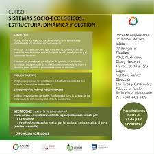 curso de posgrado sistemas socio ecológicos