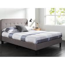 Curved Bed Frame Priage Grey Upholstered Wood Frame Curved Platform Bed Free